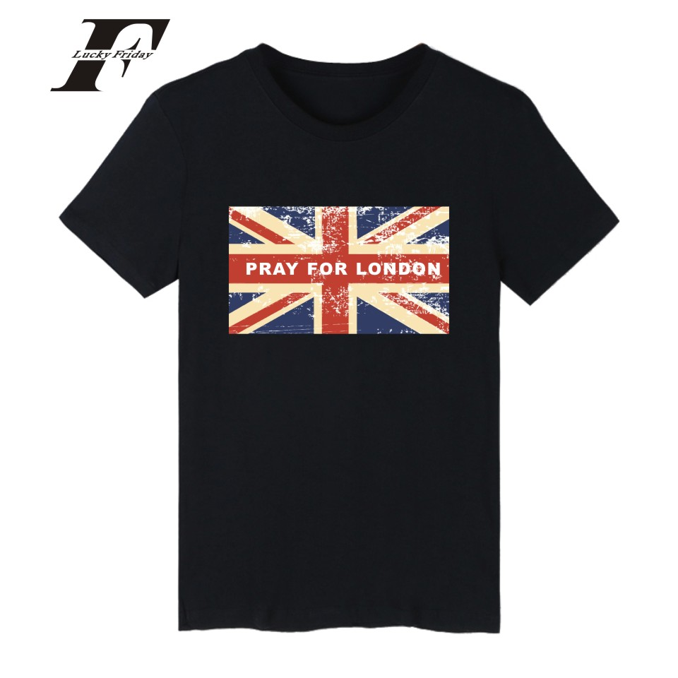 Pray for london tshirt uk flag oversized hip hop kpop t shirt men special design tee shirt summer short sleeve cotton women 4xl