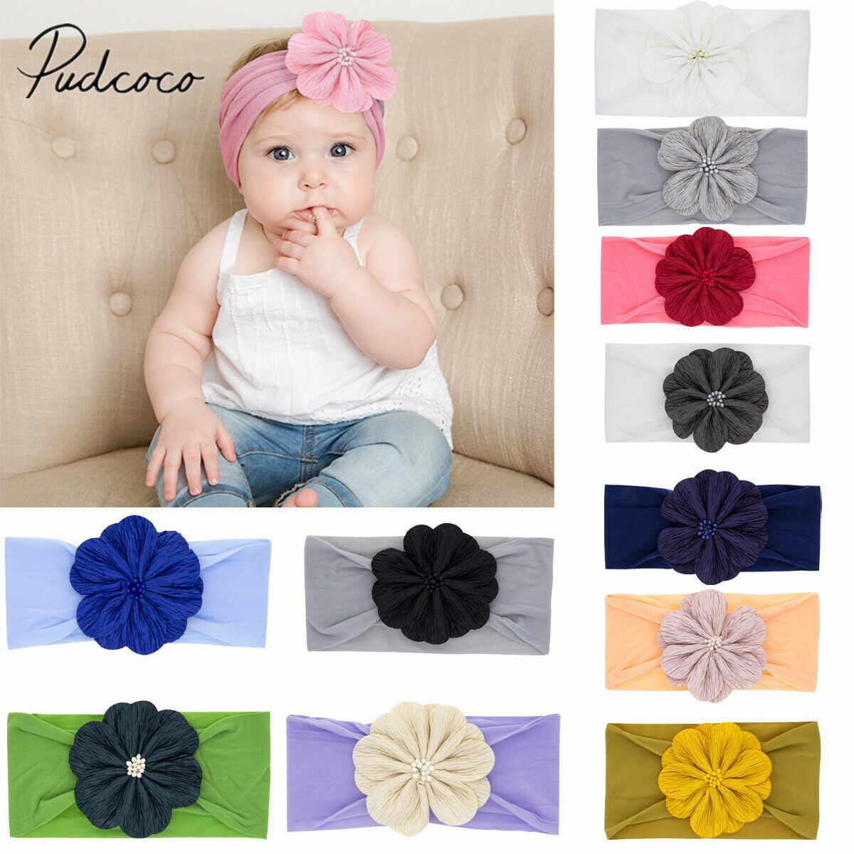 2019 accesorios para bebé recién nacido lindo bebé niñas niños diadema Algodón elástico bebé estampado Floral banda para el cabello niñas flor arco