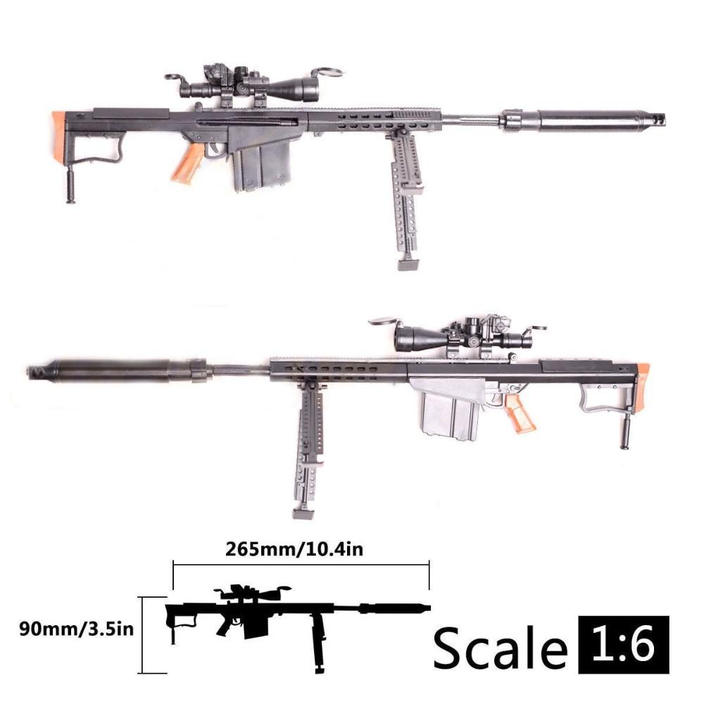 1:6 1/6 Scale 12 Inch Action Figures M82A1 Sinper Rifle Gun Model For 1/100 MG Bandai Gundam Model Kids Toy Random Color HYY0324