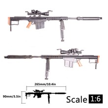 1:6 1/6 Scale 12 inch Action Figures M82A1 Sinper Rifle Gun Model For 1/100 MG Bandai Gundam Model Kids Toy Random Color HYY0324