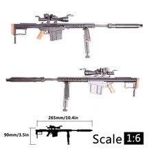 1:6 1/6 ölçekli 12 inç aksiyon figürleri M82A1 keskin nişancı tüfek tabanca modeli 1/100 MG Bandai Gundam modeli çocuk oyuncak rastgele renk HYY0324