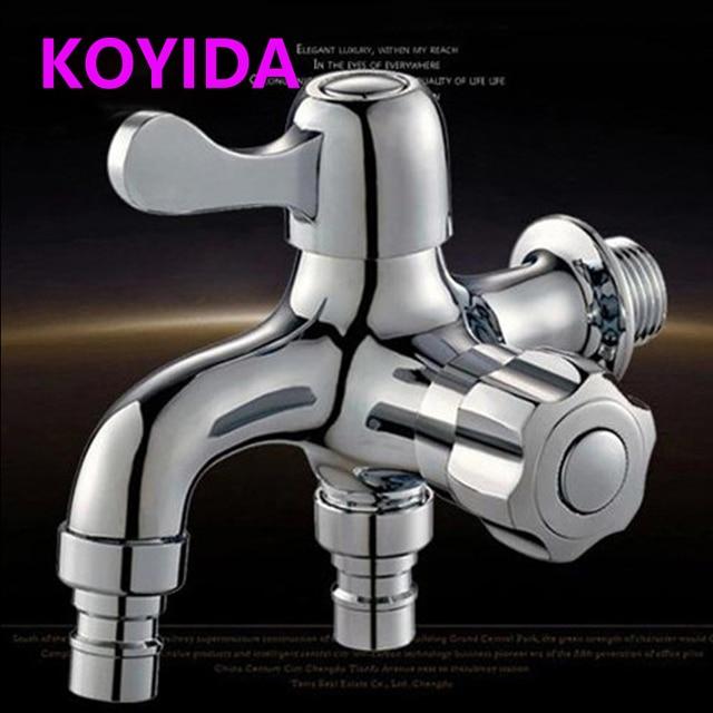 KOYIDA Chrome Brass Bibcock Washing Machine Tap Decorative Garden Faucets  Wall Mounted Bathroom Faucet Torneira Jardin