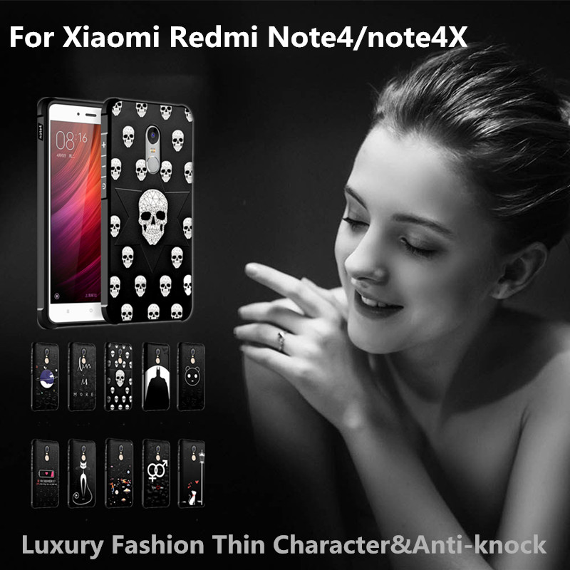 Luxury new case for Xiaomi Redmi Hongmi Note 4 Note 4X lovely painting silicon back cover for xiaomi redmi hongmi note4 note4x