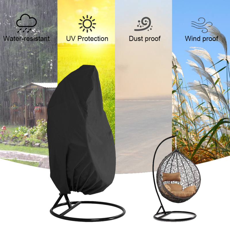 Wicker Swing Seat Cover Rattan Swing Patio Garden Weave Hanging Egg Chair Seat Cover Anti-UV Waterproof Home Hanging Organizer