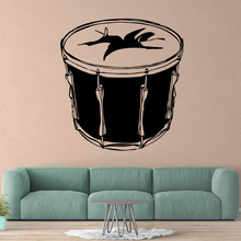 Drop Shipping drum Wall Sticker Pvc Wall Art Wall Paper For Kids Room Wall Decor Decal Mural Living Room Art Decals drop shipping cabaret wall art decal wall stickers pvc material for kids room living room home decor removable decor wall decals