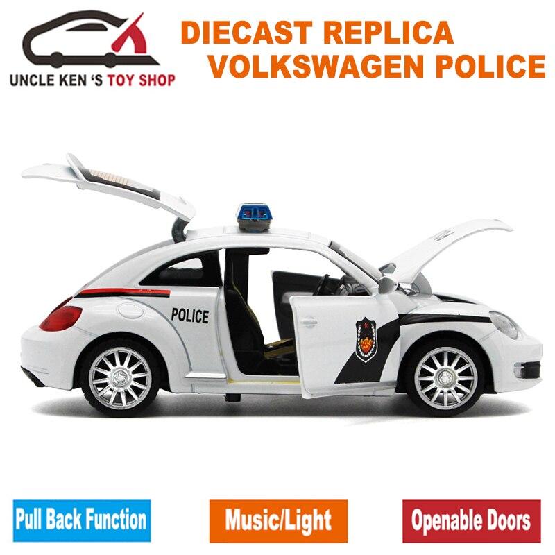 1:32 Skala 15CM Duljina Diecast Model Buba Policijski automobili - Dječja i igračka vozila - Foto 4