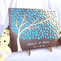 Personalized Bride & groom Wedding Guest Book Alternatives Tree of Leaves Wedding Decor Unique Guestbook Wooden Wedding Gifts