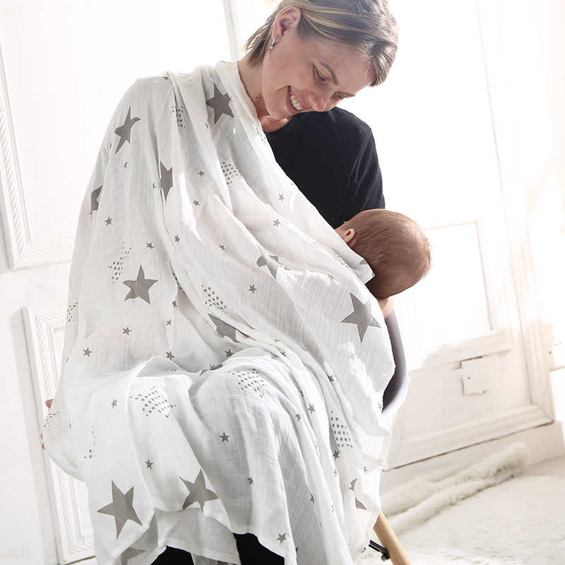 EGMAO Baby Frosted Bagged Muslin 아기 담요 Swaddle Wrap 신생아 유아용면 100% Swaddle Towels 3 Pcs a Pack 120*120 CM
