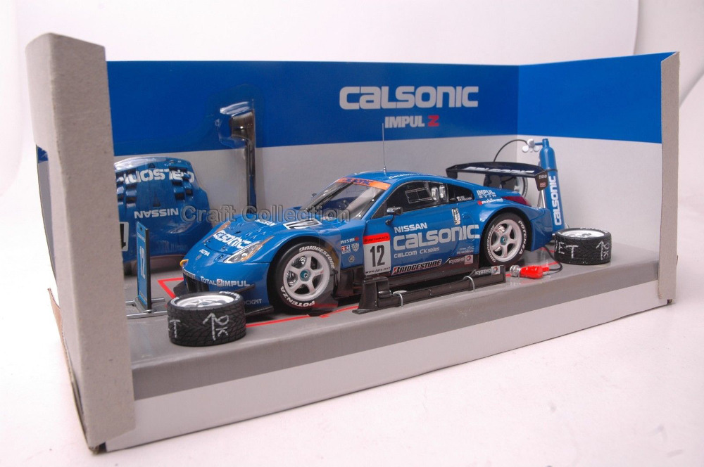 * Blue 1/24 Nissan Calsonic Impluz Race Car Diecast Model Cars Hot Selling Alloy Scale Models Limited Edition Q50