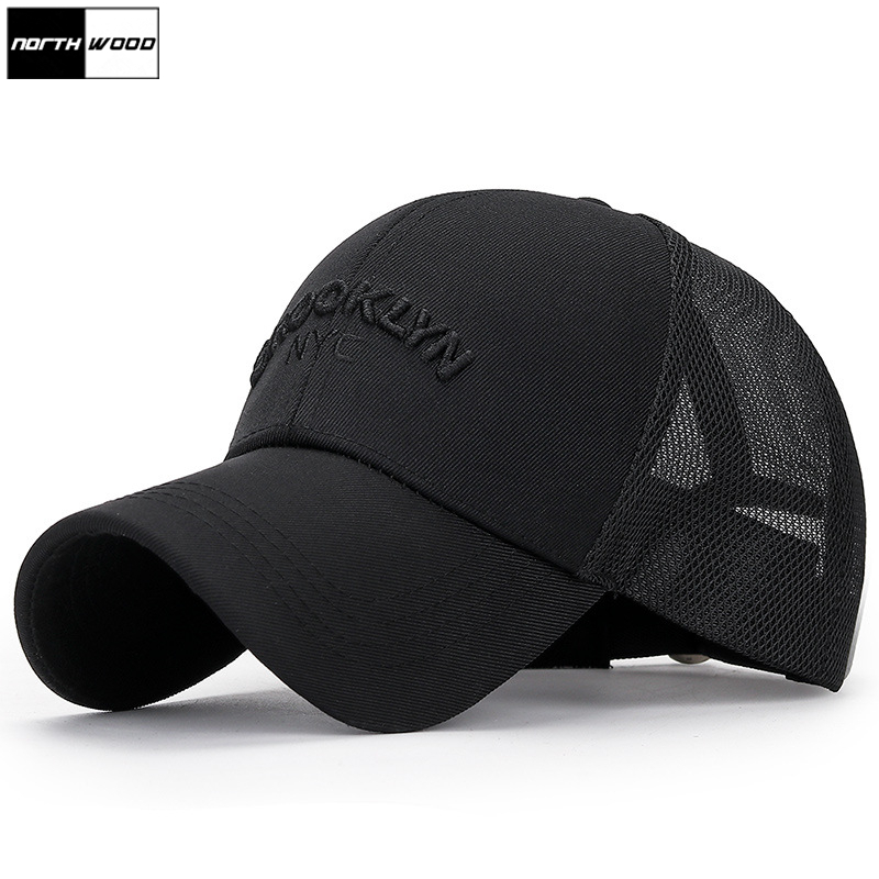 Letter Mesh-Cap Brooklyn Dad-Hat NORTHWOOD Bone Women Summer for Masculino