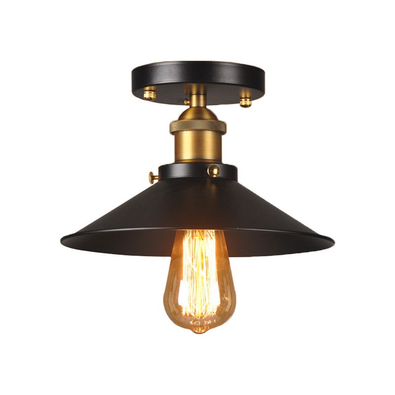 Vintage ceiling light black ceiling lamp industrial flush mount vintage ceiling light black ceiling lamp industrial flush mount light fixtures for kitchen luminaria home lighting in ceiling lights from lights lighting mozeypictures Choice Image