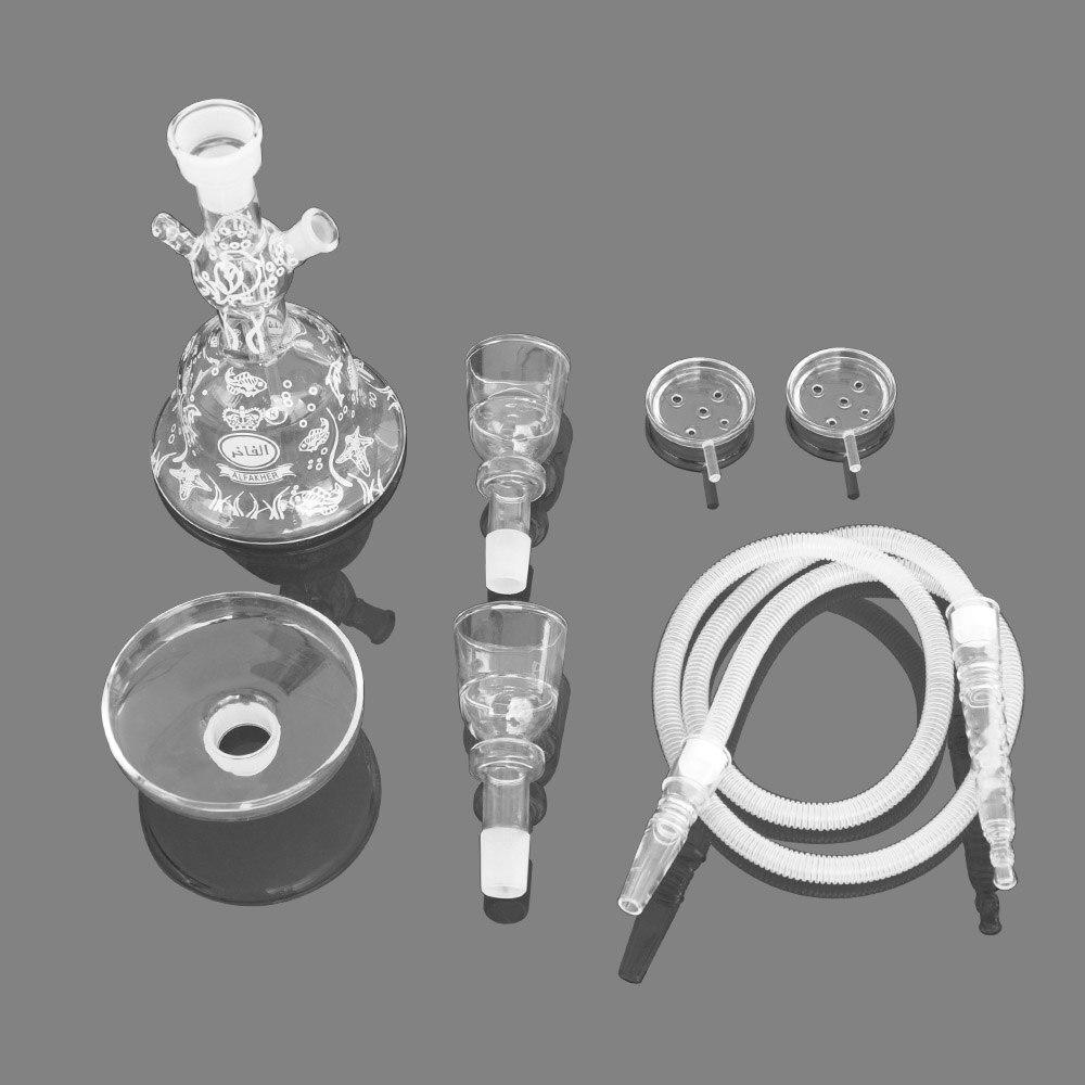 ใหม่ avrrielAl Fakher Glass hookah Shisha พร้อม hookah ท่อชาม Hookah Nargile ที่ร้อนแรงที่สุดสูบบุหรี่ Hookah ท่อฟองโฟมกล่อง-ใน ไปป์ชิชาและอุปกรณ์เสริม จาก บ้านและสวน บน   2