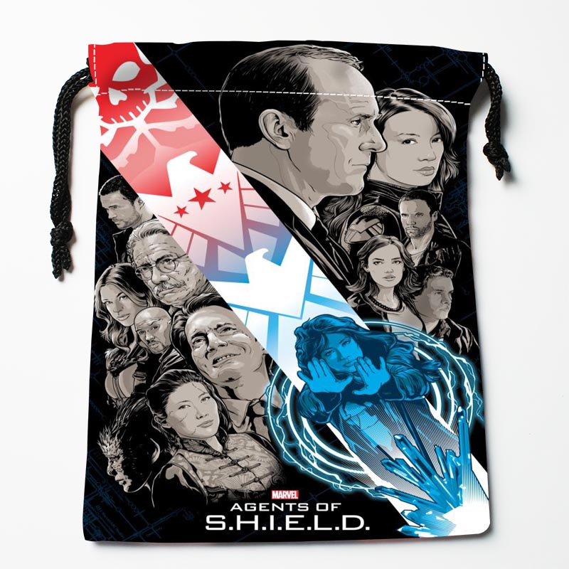 New Custom Marvel's Agents Of S.H.I.E.L.D. Drawstring Bags Custom Storage Bags Storage Printed Gift Bags Compression Type Bags