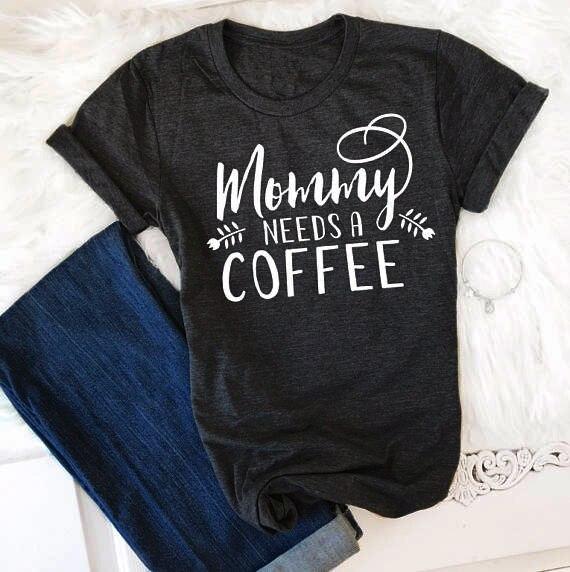 Koszulka dla wielbicieli kawy dla mamy