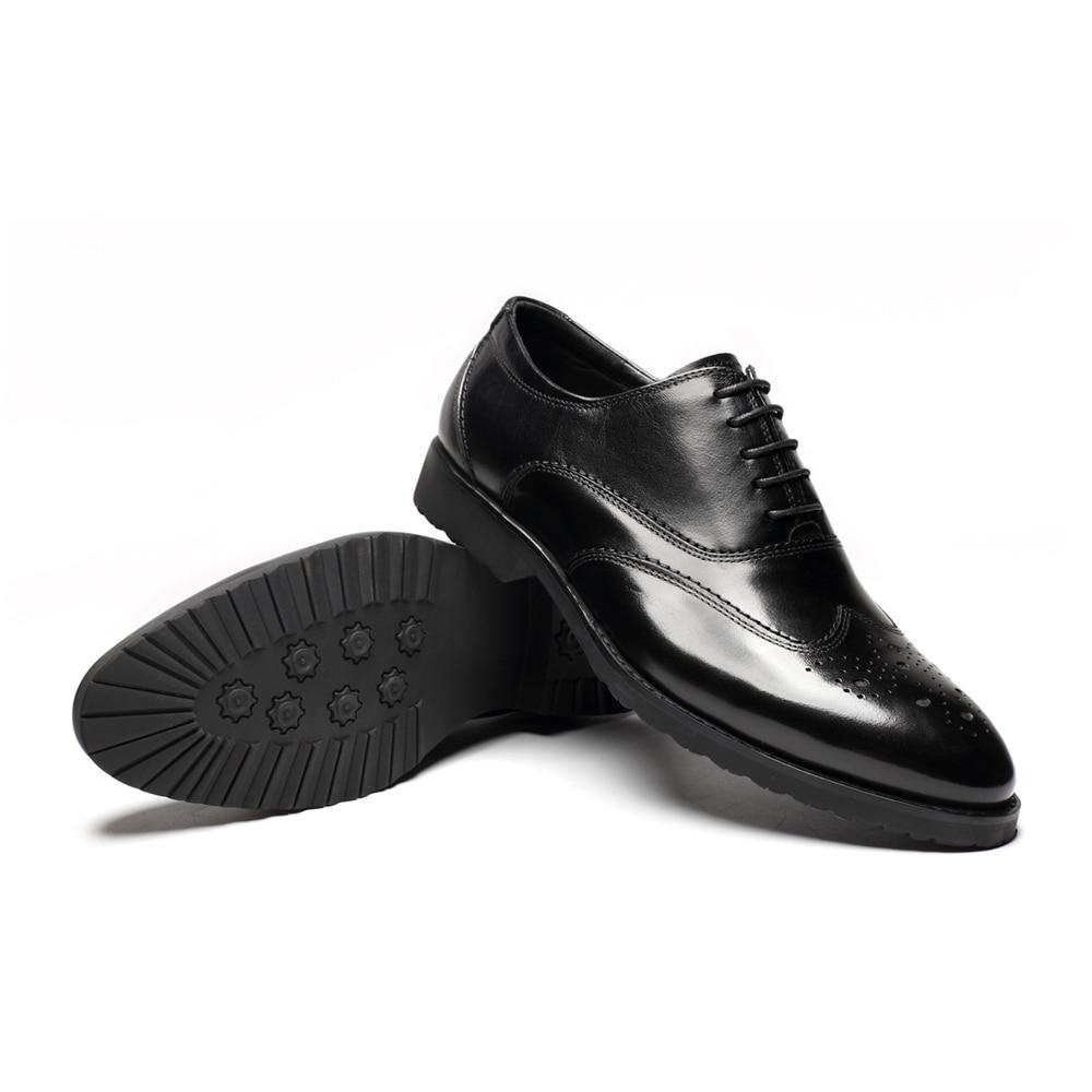 Cuero Alta Negro Zapatos Negocios Marca Genuino Italiana 2018 La Popular wine Famosa Vestir Oxfords Black De Hombres Moda Calidad wxnFCZ0z
