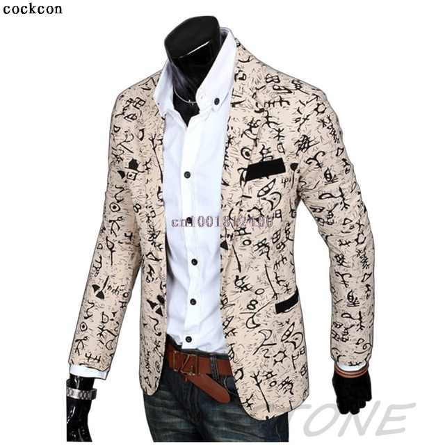 2017 Stylish Mens Casual Slim Fit tres Botones Outwear Blazer Suit Coat Jacket