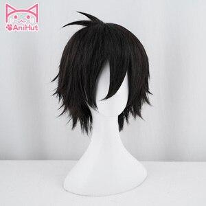 Image 2 - 【AniHut】Zack peruk Anime melekler ölüm Cosplay peruk sentetik 30cm siyah erkekler saç Zack Isaac koruyucu melekler ölüm cosplay saç