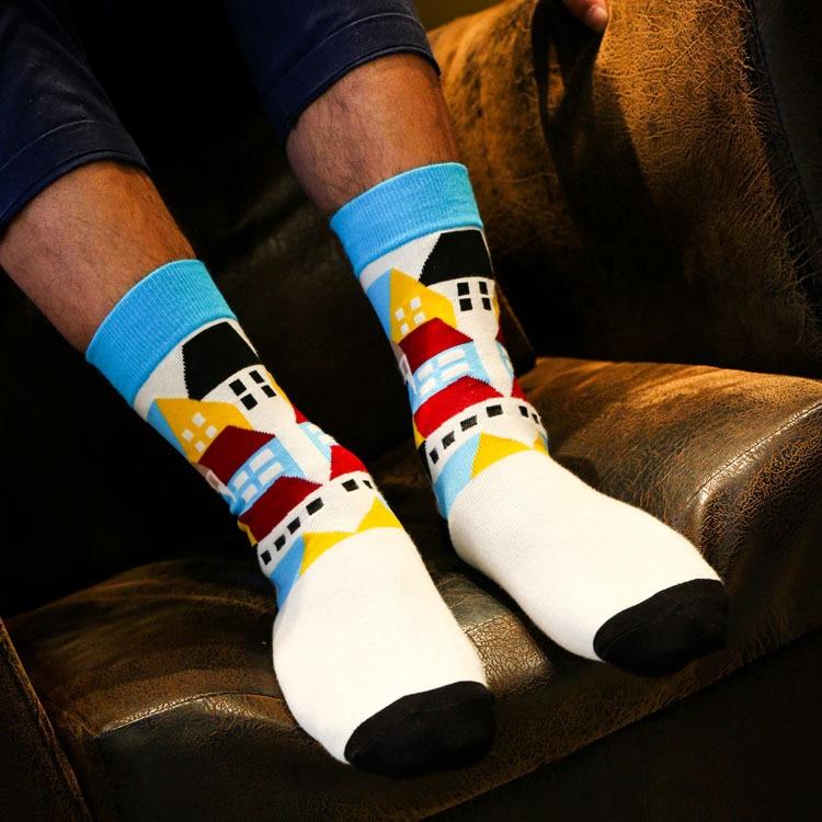 Happy socks kinjoy Christmas gift men cotton stockings socks Autumn winter Cycling Skiing thermal soccer Sports stockings socks