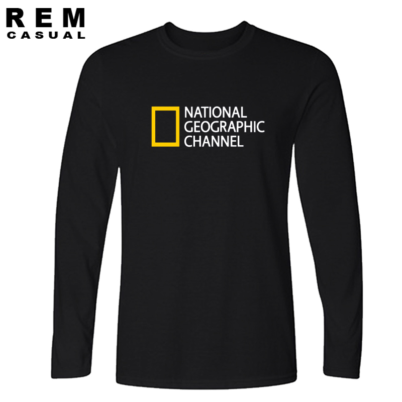 NATIONAL GEOGRAPHIC CHANNEL Uniform T Shirt Streetwear  Cotton Men And Comfortable Jersey Long Sleeve Tee