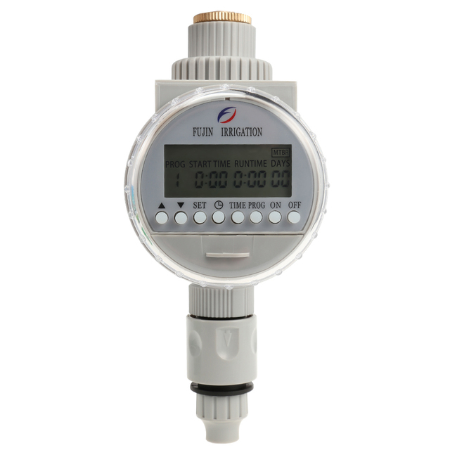 FUJINIRRIGATION Garden Watering Solar Water Timer Automatic Watering Irrigation Controllers System LCD Digital Irrigation Timer