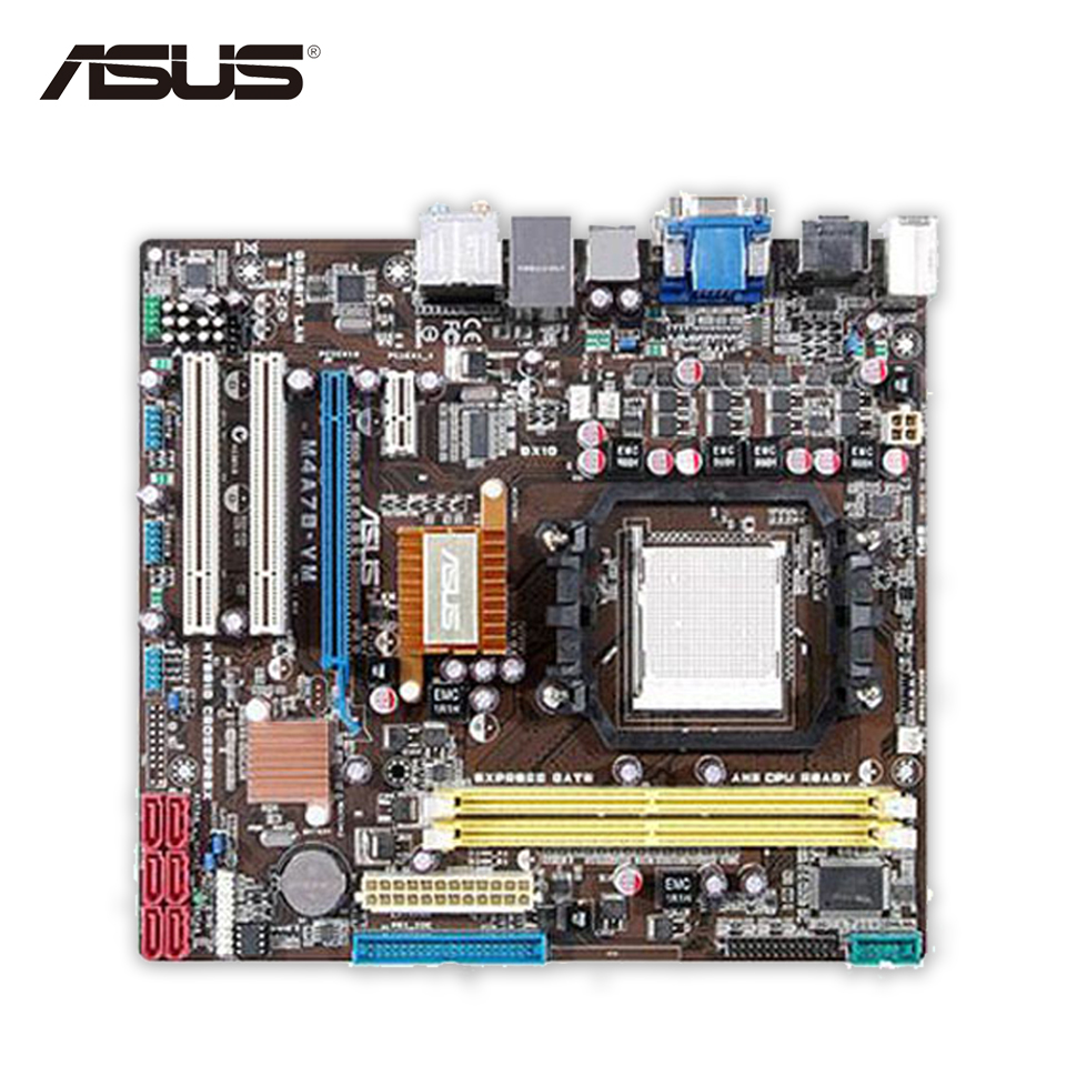 Asus M4A78-VM Original Used Desktop Motherboard 780G Socket AM2 DDR2 SATA2 USB2.0 uATX opi лак для ногтей if you persist infinite shine nail lacquer 15мл