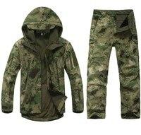 남성 야외 방수 재킷 TAD의 V 5.0 XS Softshell 사냥 복장 열 옷 전술 캠핑 하이킹 호흡 스포츠 정장