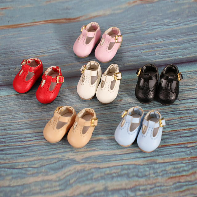 Shoes for 1/12 BJD OB11 leather shoes in 6 colors suitable for 1/8 middie  toys gifts