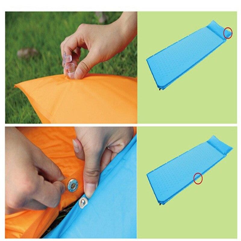 Brand Dampproof Camping Automatic Inflatable <font><b>Air</b></font> Pad Mattress Sleeping Bag Automatic Inflatable Sleeping Hight Quality