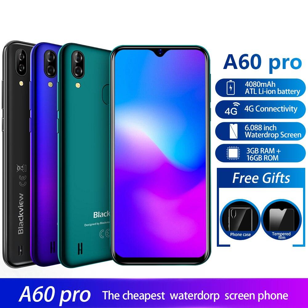Blackview A60 Pro 4G Lte Cell Phone Android 9 0 Face Unlock Fingerprint ID 4080mAh Cellphone