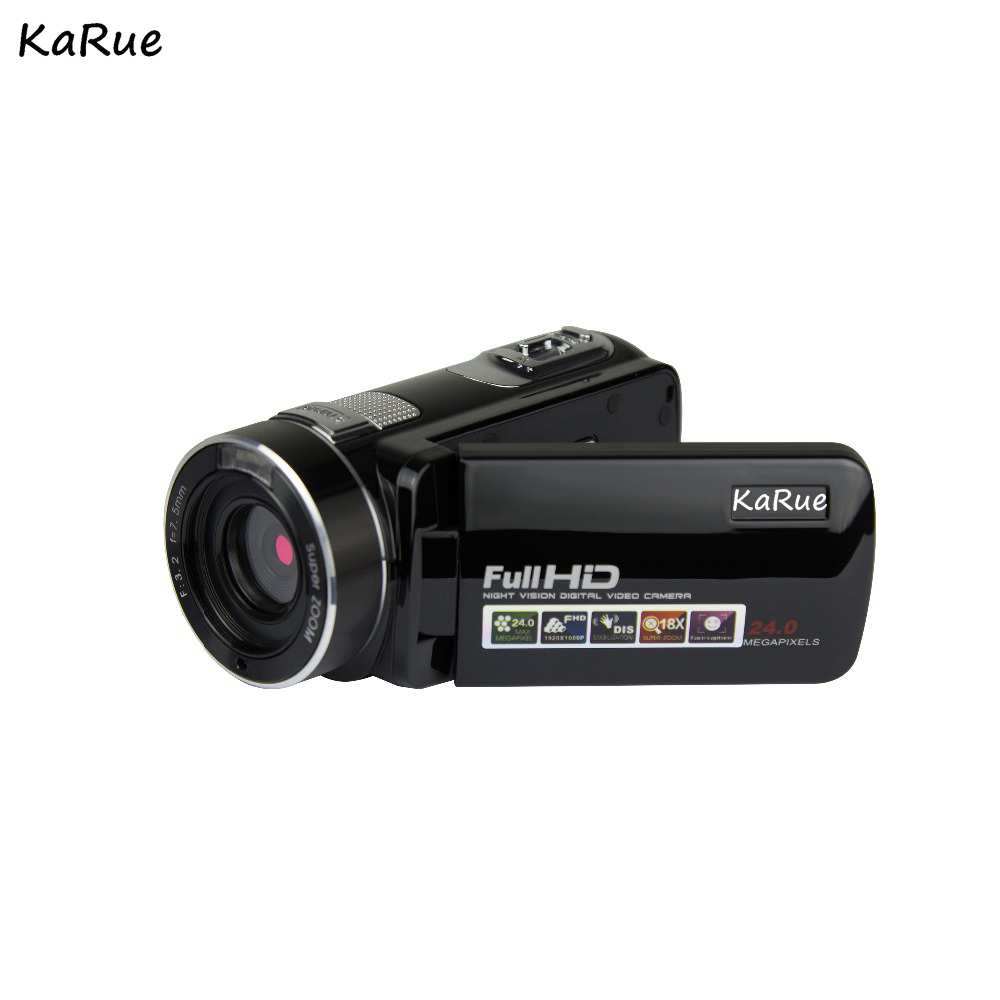 KaRue Digital Video Camera HDV-302P 24MP HD Digital Camera 16X Digital Zoom 3.0 Inch Anti-shake 3.0MP CMOS DV Camcorder