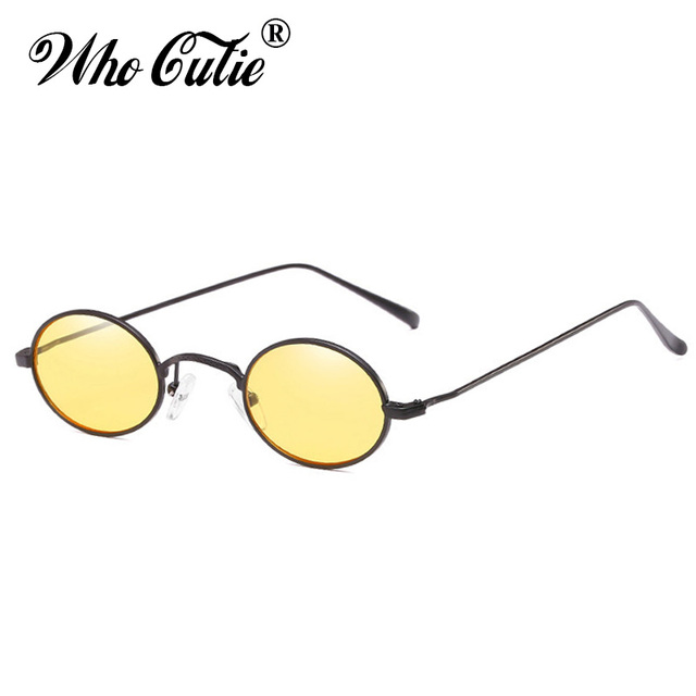 Small Slim Oval Sunglasses Women Brand Designer Retro Clear Lens Sun Glasses Shades 0vktdqR