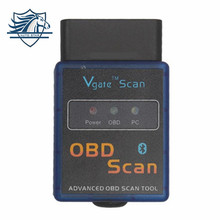 Новое поступление ELM327 Vgate сканирования Расширенный OBD2 Bluetooth сканирования (Поддержка Android и Symbian) программного обеспечения V1.5
