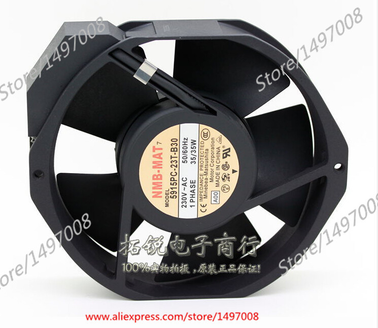 NMB-MAT 5915PC-23T-B30, A00 AC 230V 35W , 170x150x38mm Server Square fan nmb mat new 5915pc 20w b30 b00 ac 200v 34w 172x150x38mm server round fan