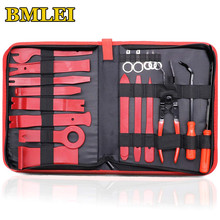 Car Trim Removal Tools Kit Auto Panel Dash Audio Radio Removal Installer Repair Pry Tools Kit Fastener Removal with Storage bag(China)