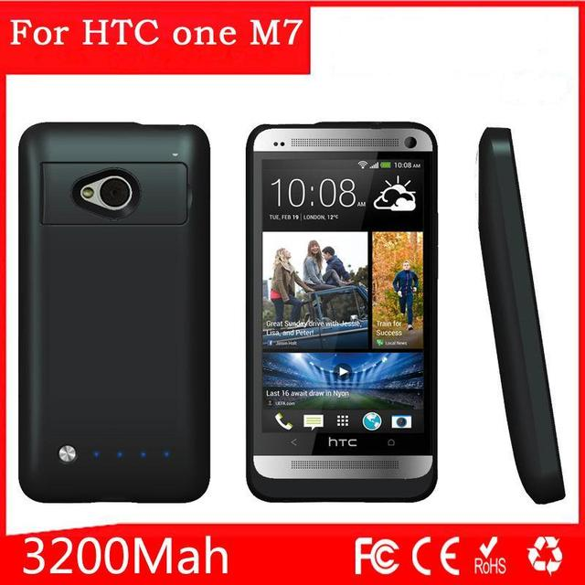best service 37fcd 6a880 US $19.99 |For HTC ONE M7 Power Case bank case External 3200mAh Portable  Battery Charger Charging Cover Backup Case Power Supply-in Battery Charger  ...