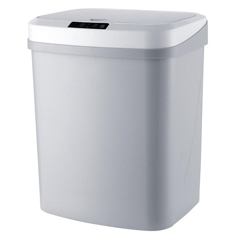 La poubelle électrique d'induction automatique intelligente à la maison peut lancer la version de batterie de baril (double mode de tapotement infrarouge)