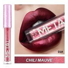 все цены на Liquid Lipstick Shimmer Long Lasting Moisturizing Lip Gloss Pigment Glitter Metal Color Lips Tint Sexy Red Women Makeup Tools