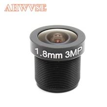 Lente de vigilância de 2.8mm 1.8mm, lente de cctv f2.0 m12 * 3.6 de visão ampla m12 com montagem compatível com largura lente cctv ângulo