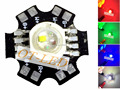 New Come! 10PCS 4W RGBW RGB+White High Power Led Chip Lamp Light Red Green Blue White 1W Each Chip with 20mm Star Base