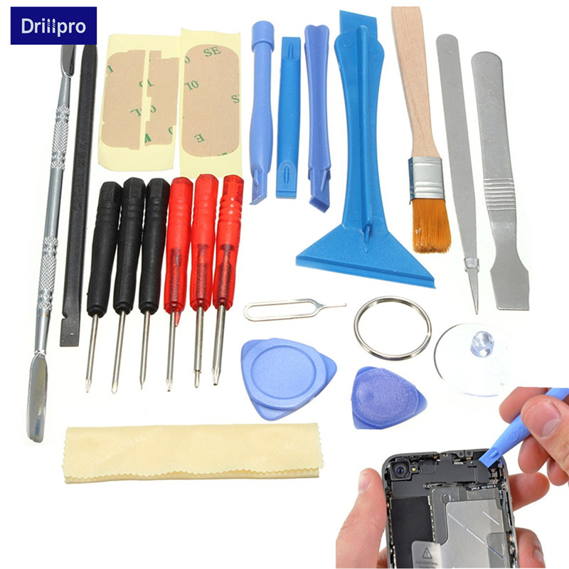 Drillpro 22 In 1 Smart Cell Mobile Phone Opening Pry Repair Tool Kit Torx Screwdrivers Set For IPhone For Samsung Hand Tools Set