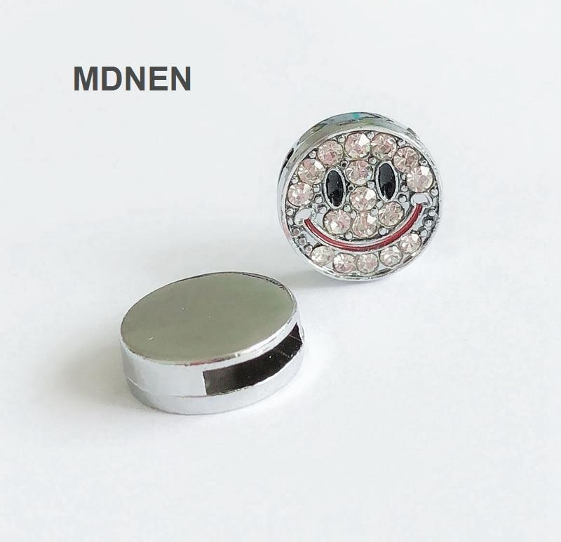 8 mm CLAIR Bouchons en Caoutchouc Coupe la 8 mm Bracelets Ceintures pour Glisser les Charms lettres