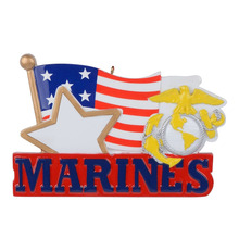 Military(marine) polyresin personalized christmas ornament & gifts rcv military marine 890 021