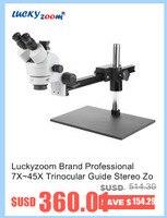 luckyzoom бренд профессиональный 60 шт. свет круговой микроскоп аксессуар осветитель