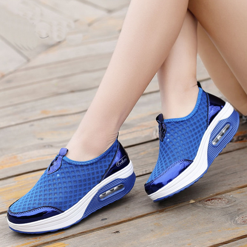 Breathable Casual Sport Shoes For Women 2019 Outdoor Walking Sport Shoes Lightweight Cushioning Sneakers Womens Shoes
