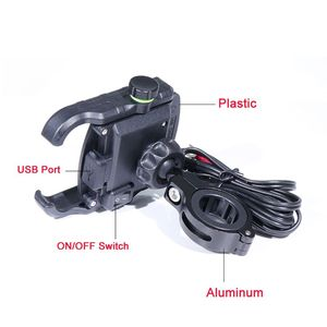 Image 5 - Waterproof Motorbike 360 Degree Motorcycle Handlebar Mirror Cell Phone Mount Holder with QC 3.0 USB Charger for iPhone Samsung
