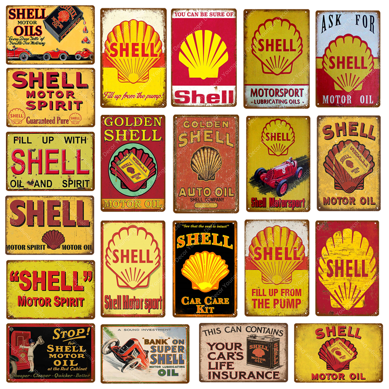 Plaques & Signs Back To Search Resultshome & Garden Humorous Golden Shell Motor Oil Motor Sport Tin Signs Vintage Metal Poster Bar Pub Garage Decor Wall Art Painting Sticker