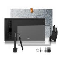 2 ручки Parblo A610 Графика планшет для рисования с шерстяной подкладкой сумка + Защитная пленка + палец перчатки + 10 наконечники для ручек