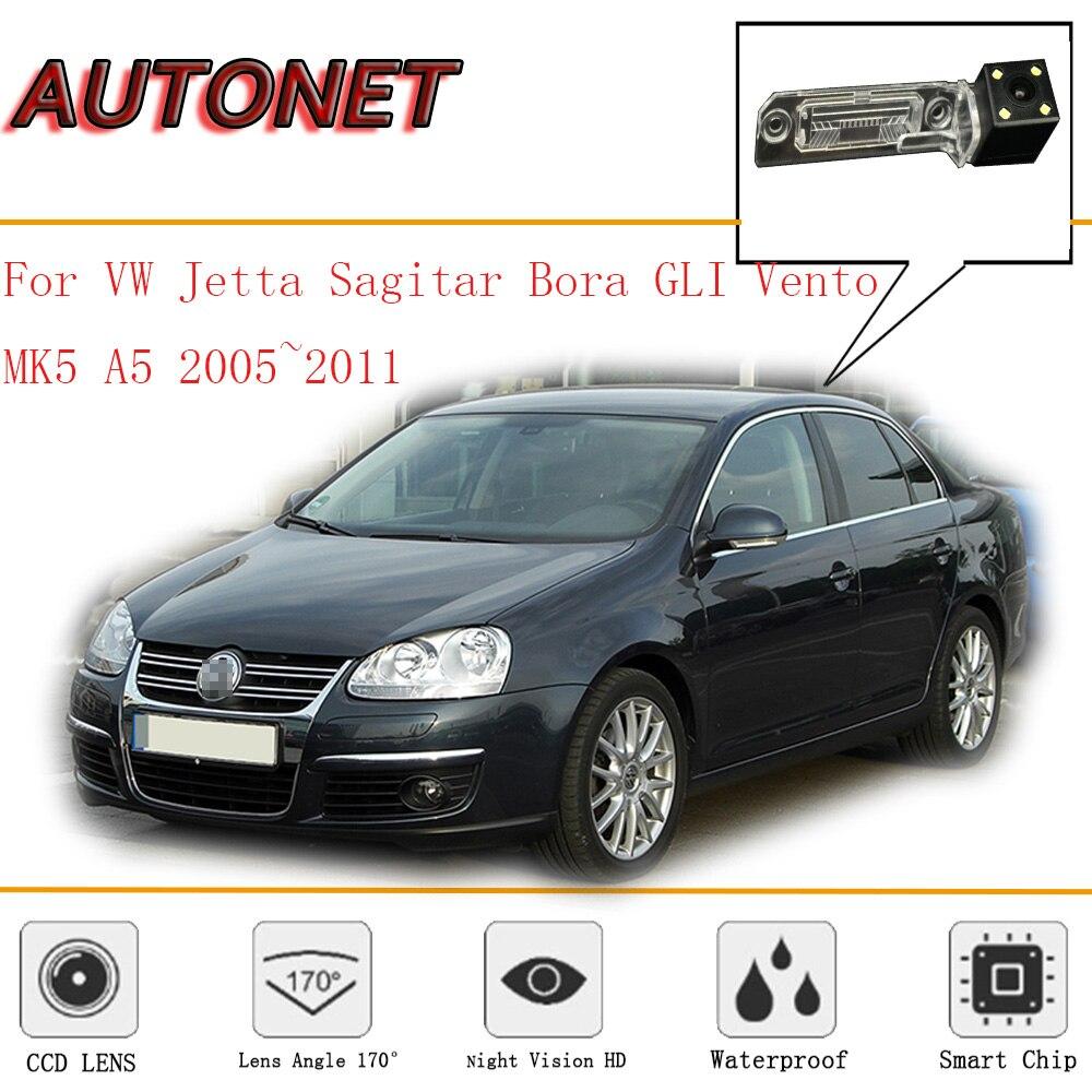 AUTONET câmara de Visão Traseira Para Volkswagen Jetta/Bora/GLI/Vento MK5 A5 2005 ~ 2011CCD/Noite visão/Backup Da Câmera/câmera da placa de licença