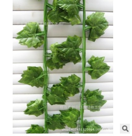 (24 pcs/lot)240cm Chrismas decoration fake silk vines wedding grape vine leaves wall decoration ...