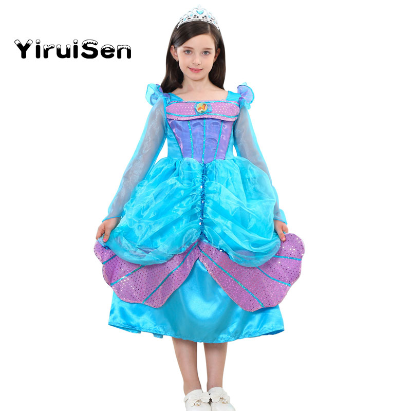 2017 Girls Fancy Costume Dress Christmas Halloween Gift Children Clothing Birthday Princess Dresses Clothes Outfits